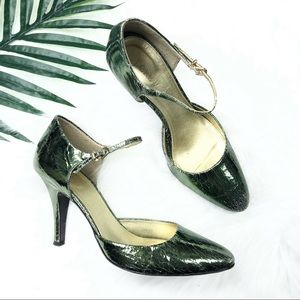 J. Crew Shoes Leather Heels with Ankle Strap